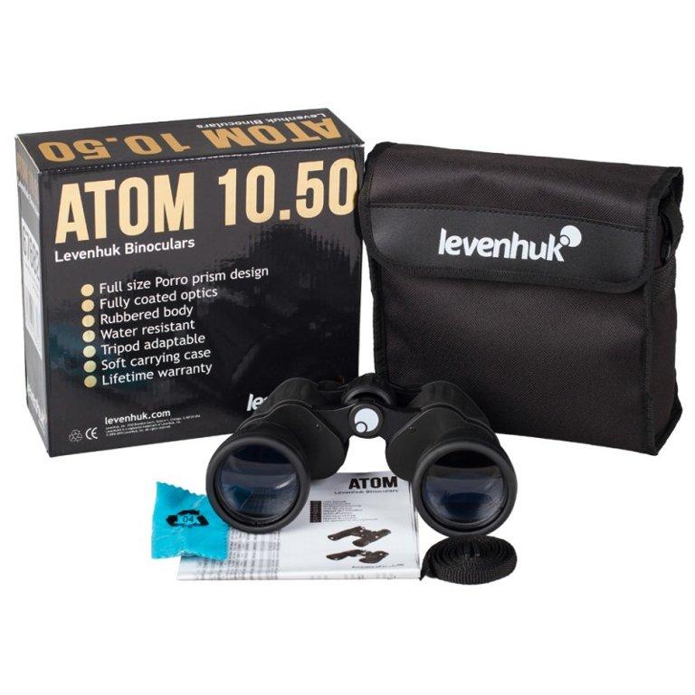 Binoklis LEVENHUK Atom 10x50